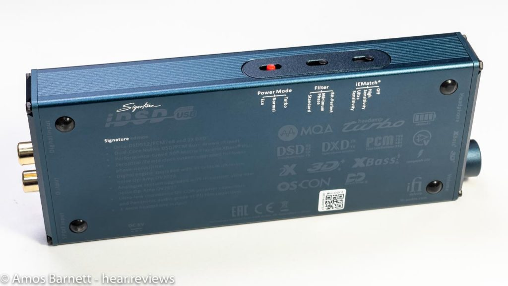 iFi Micro iDSD Signature features